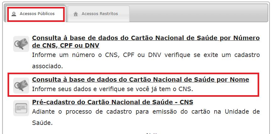 Consulta CNS