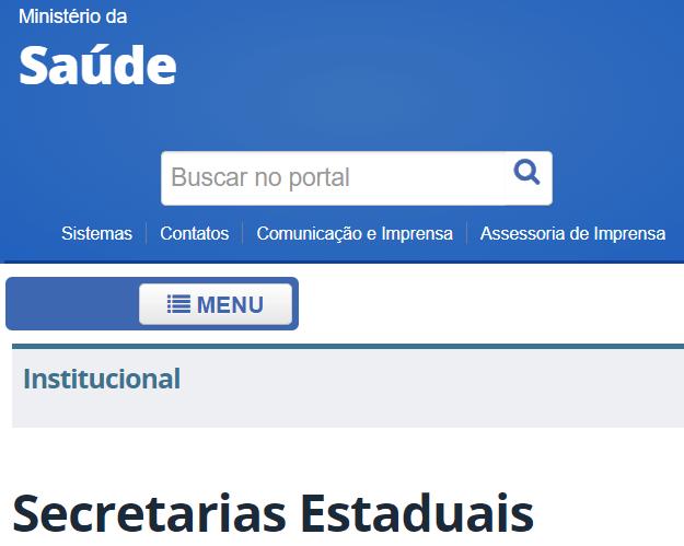 Secretarias Estaduais